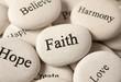 canvas print picture - Inspirational stones - Faith
