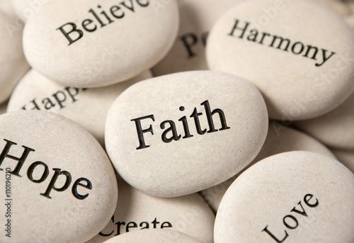 Inspirational stones - Faith Fototapet