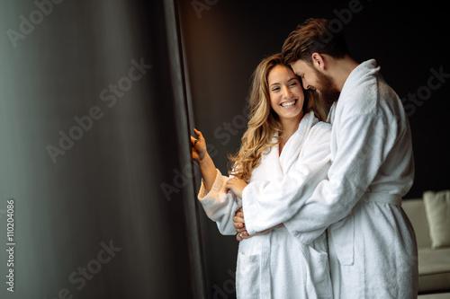 Fotografie, Obraz  Couple enjoying wellness weekend