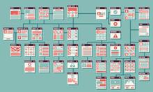 Abstract Website Sitemap Vector Infographics