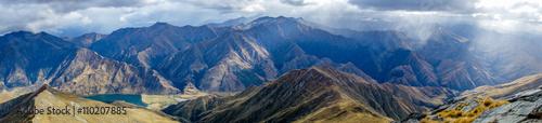 Aluminium Prints Mountains New Zealand - Southern Alps panorama