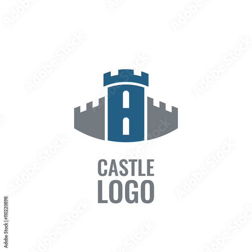 Castle, fortress vector logo. Tower architecture icon. Poster