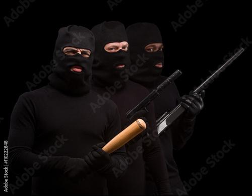 Obraz na płótnie Thieves in masks