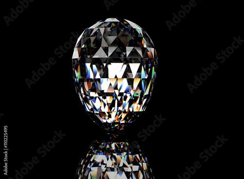 Tuinposter 3D illustration of Diamond. Jewelry background. Fashion accessory