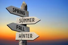 Spring, Summer, Fall, Winter Signpost