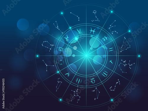 Fotografia Astrology and alchemy sign background vector illustration