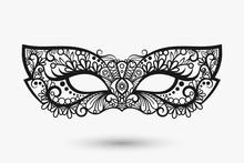 Beautiful Lace Mask. Mardi Gra...