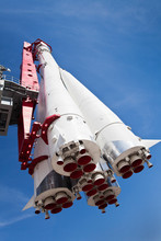 """""""Vostok"""" Rocket At Exhibition Of Achievements Of National Economy. Moscow. Russia"""