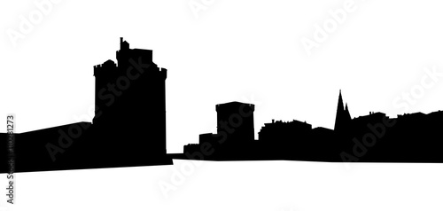 Fotografie, Obraz  Port de la Rochelle, Silhouette