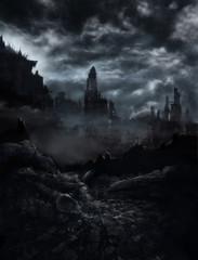 Ruinen in der Nacht