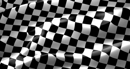 Obraz na Szkle Formuła 1 checkered flag, end race background