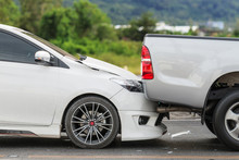 Car Accident Involving Two Car...