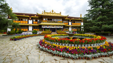 Norbulingka Summer Palace In Lhasa, Tibet. This Is A Summer Residence Of Dalai Lama.