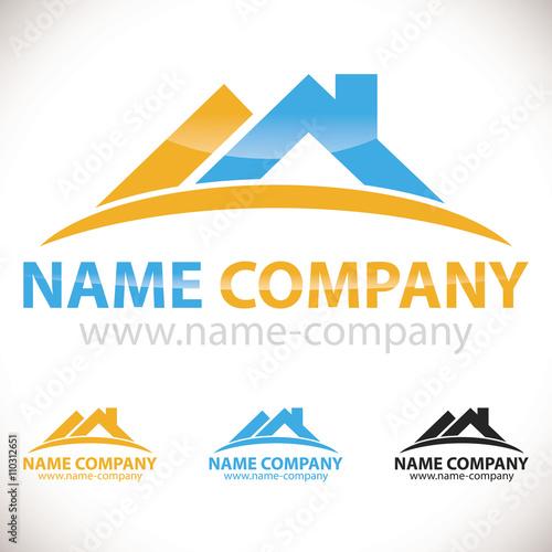 logo artisan charpentier toiture maison - Acheter ce vecteur libre de droit et découvrir des ...