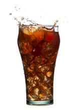 Splashing Cola Drink