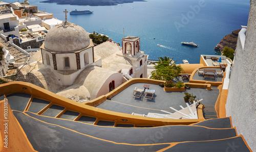 Fototapeta Fira town Santorini obraz