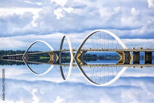 JK Bridge in Brasilia, capital of Brazil.