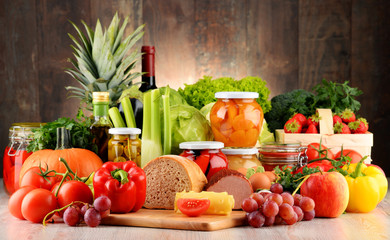 Fototapeta Composition with variety of organic food