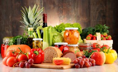 Fototapeta samoprzylepna Composition with variety of organic food