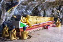 Reclining Buddha At Elephant Cave Near Vang Vieng, Vientiane Province, Laos.