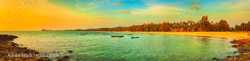 Fotografie, Obraz  The Indian ocean. Panorama