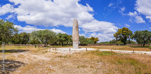 Fotografie, Obraz  The Standing Stone / Menhir of Meada, the largest of the Iberian Peninsula