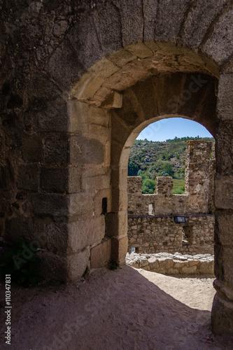 Photo  Bailey entrance of the Templar Castle of Almourol