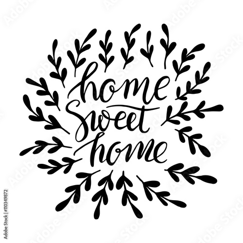 Lettering Sweet Home Canvas Print