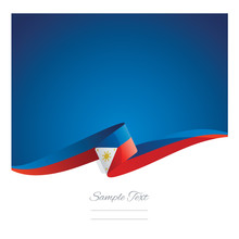 New Abstract Philippines Flag Ribbon
