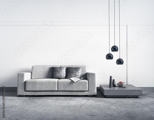 sofa vor heller wand adobe stock adobe stock. Black Bedroom Furniture Sets. Home Design Ideas