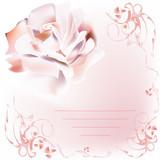 Romantic rose letter