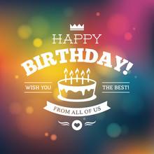 Bright Colorful Birthday Card ...