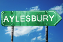 Aylesbury, 3D Rendering, A Vintage Green Direction Sign