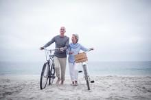 Senior Couple Having Ride With...