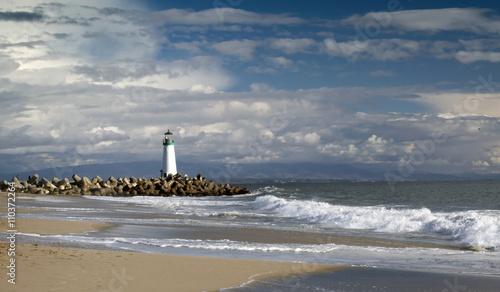 Foto op Aluminium Vuurtoren Santa Cruz Walton Lighthouse