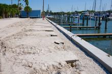 Marina Dock Breakwall And Parking Lot Construction