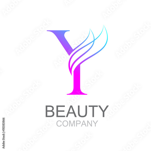 Abstract letter Y logo design template with beauty industry and ...