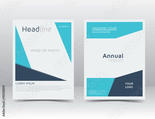 Blue Annual Report Brochure Empty Layout Flyer Template Leaflet Design Layout Brochure Design Vector Illustration Eps 10 Buy This Stock Vector And Explore Similar Vectors At Adobe Stock Adobe Stock