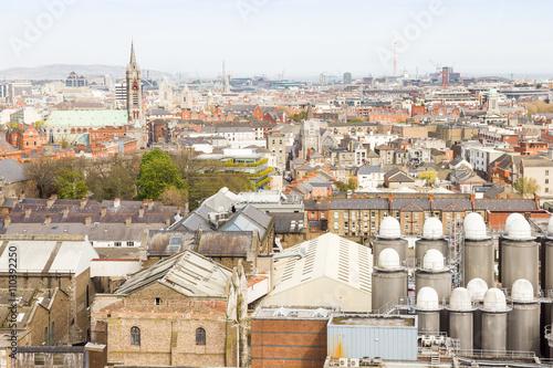 Staande foto Afrika Aerial view of Dublin, Ireland