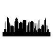 City silhouette on white background