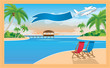 Beautiful resort on the tropical island