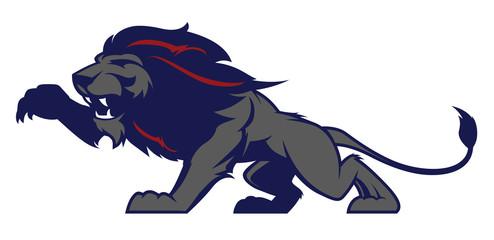 Fototapeta Lew Roaring lion sport logotype