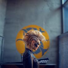 Beautiful Punk Girl  Posing In...