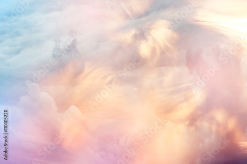 abstract watercolor background sunset sky orange purple