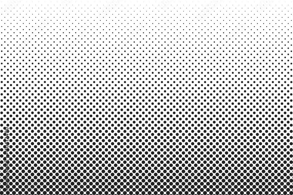 Fototapeta Medium dots halftone vector background. Overlay texture.