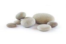 Pebbles, Isolated On White