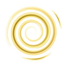 Golden Watercolor Spiral