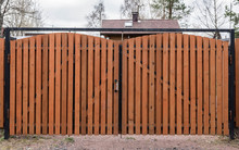 Brown Wooden Gate In The Village