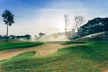 Bunker And Golf Course Irrigation, Watering Golf Course.