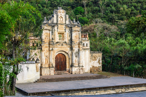 Poster Ruine Ermita de la Santa Cruz ruins, Antigua, Guatemala